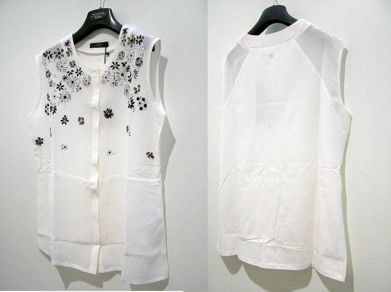 camicia senza maniche con decorazioni
