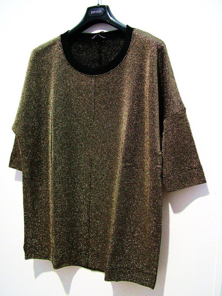 t-shirt lurex oro