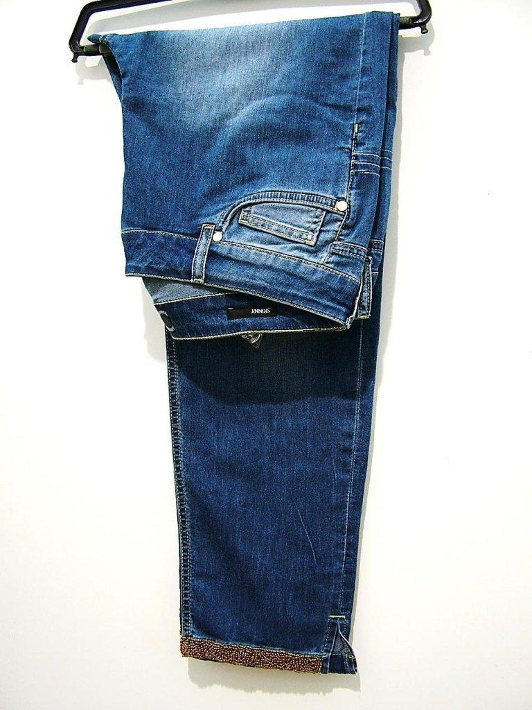 jeans con risvolto lavorato