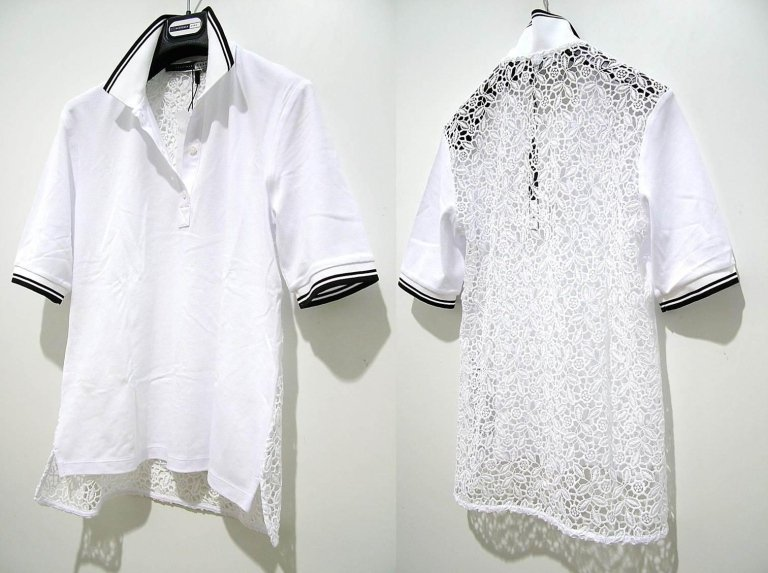 t-shirt bianca con schiena in trasparenza