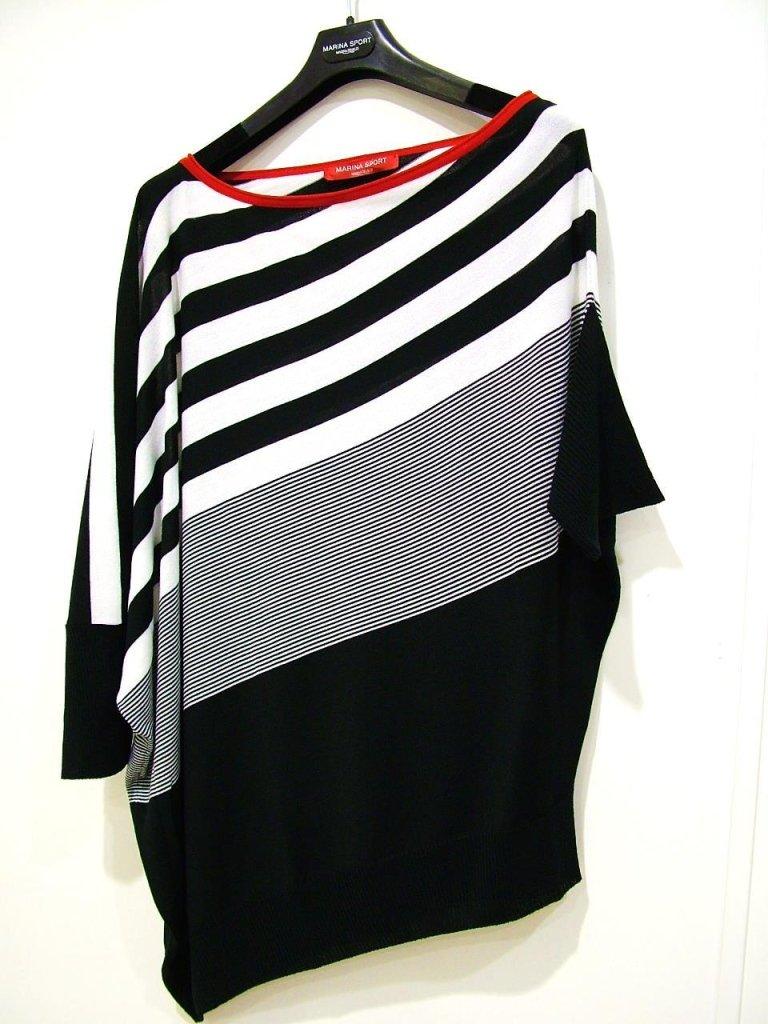 maglia a righe asimmetrica