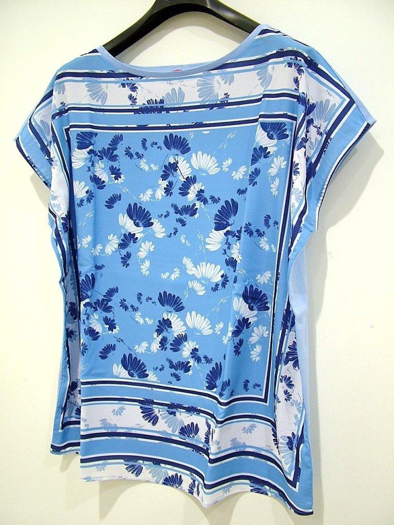 simpatica maglia fantasia blu