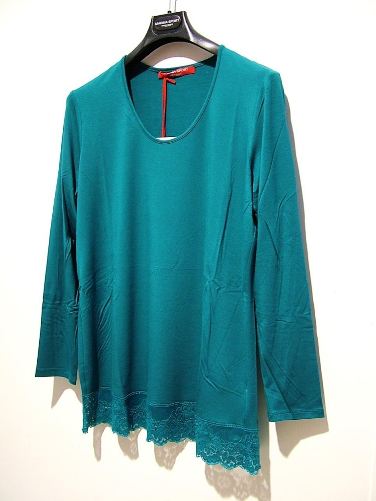 t-shirt jersey pizzo verde