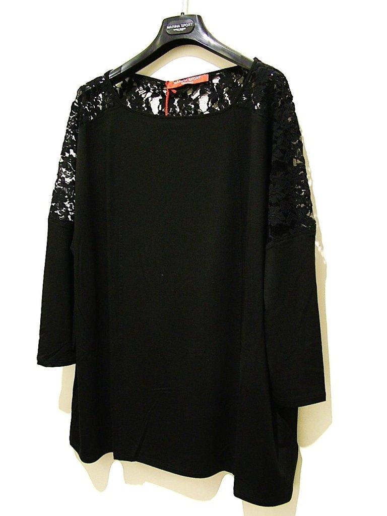 t-shirt pizzo nera