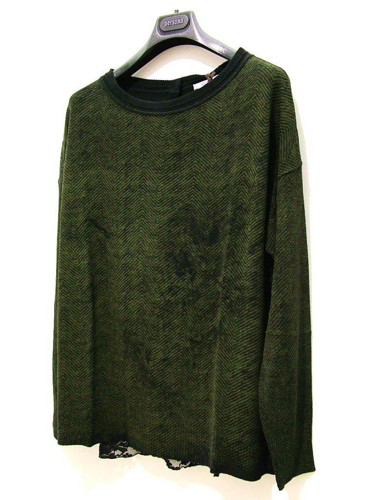 maglia spinata verde pizzo