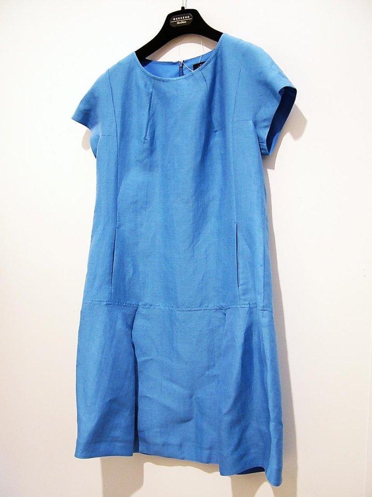 vestito azzurro manica corta