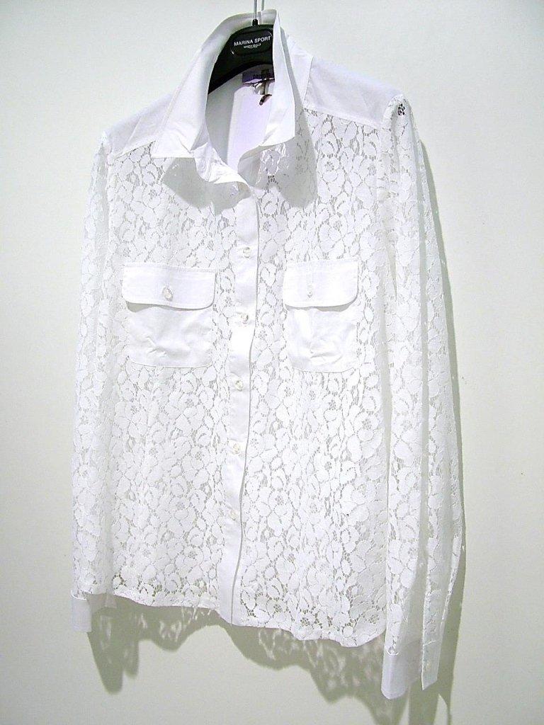 elegante camicia in pizzo