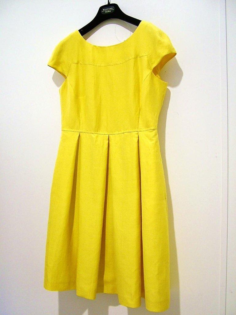 vestito giallo manica corta