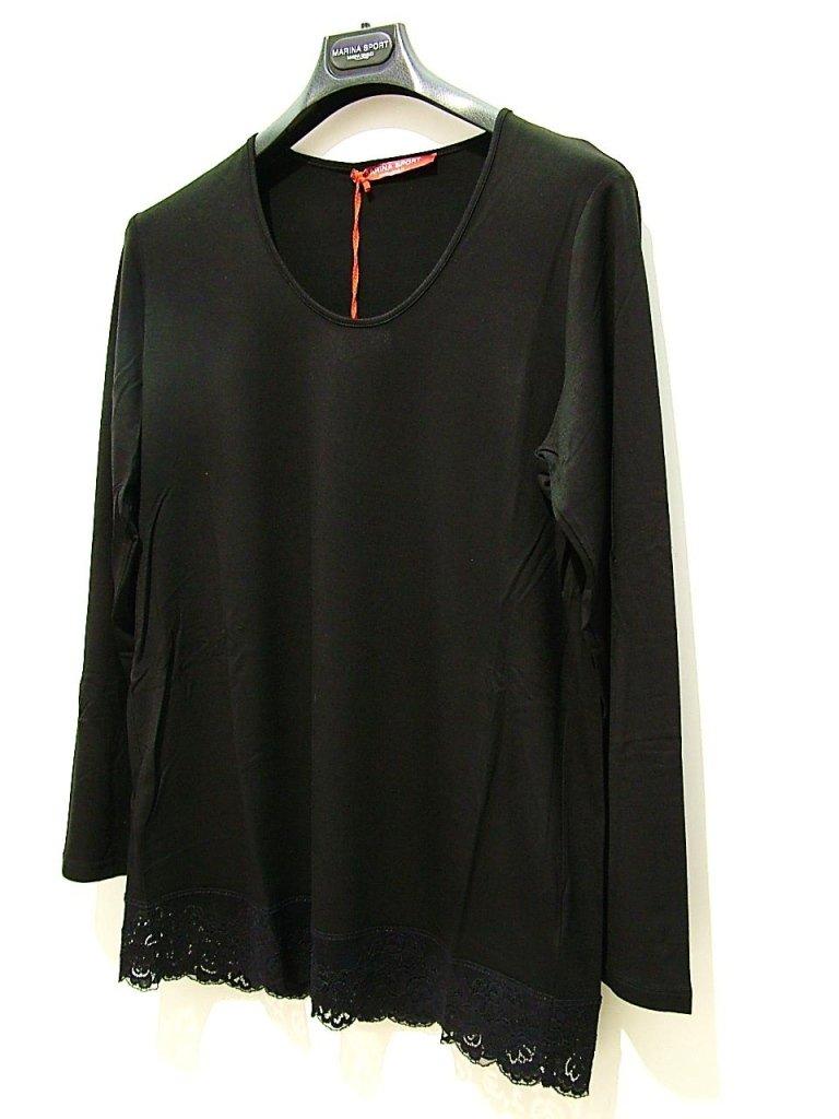 t-shirt jersey pizzo nero