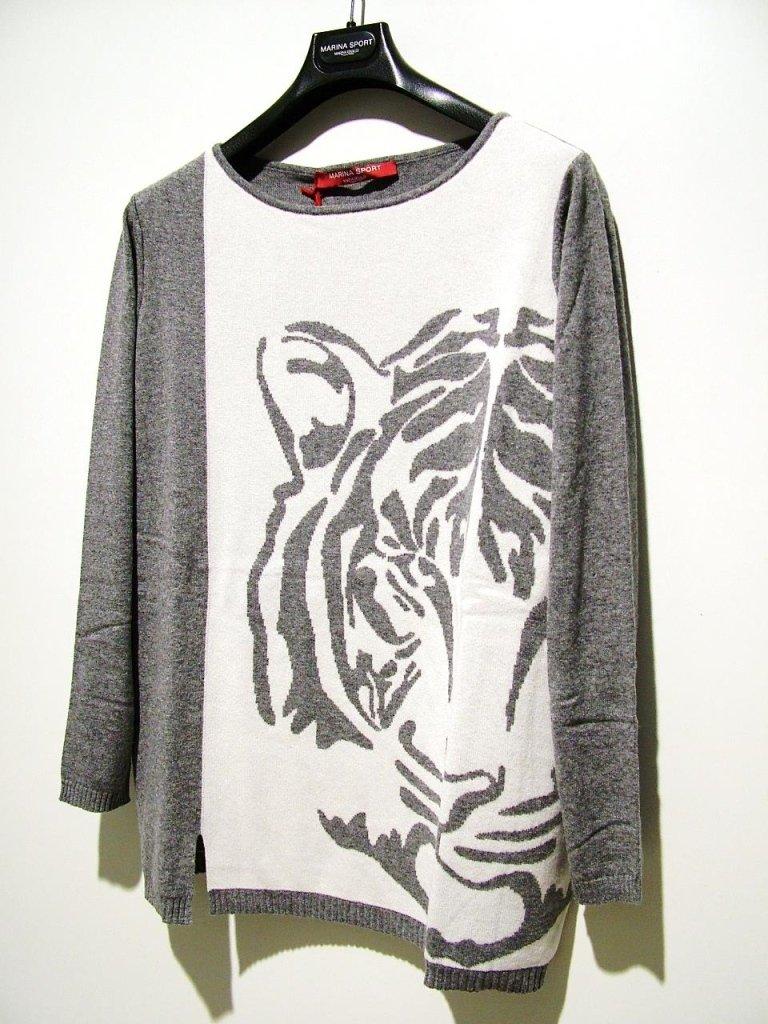maglia grigio panna TIGRE