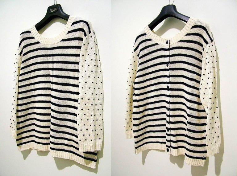 maglia a righe con bottoni o senza