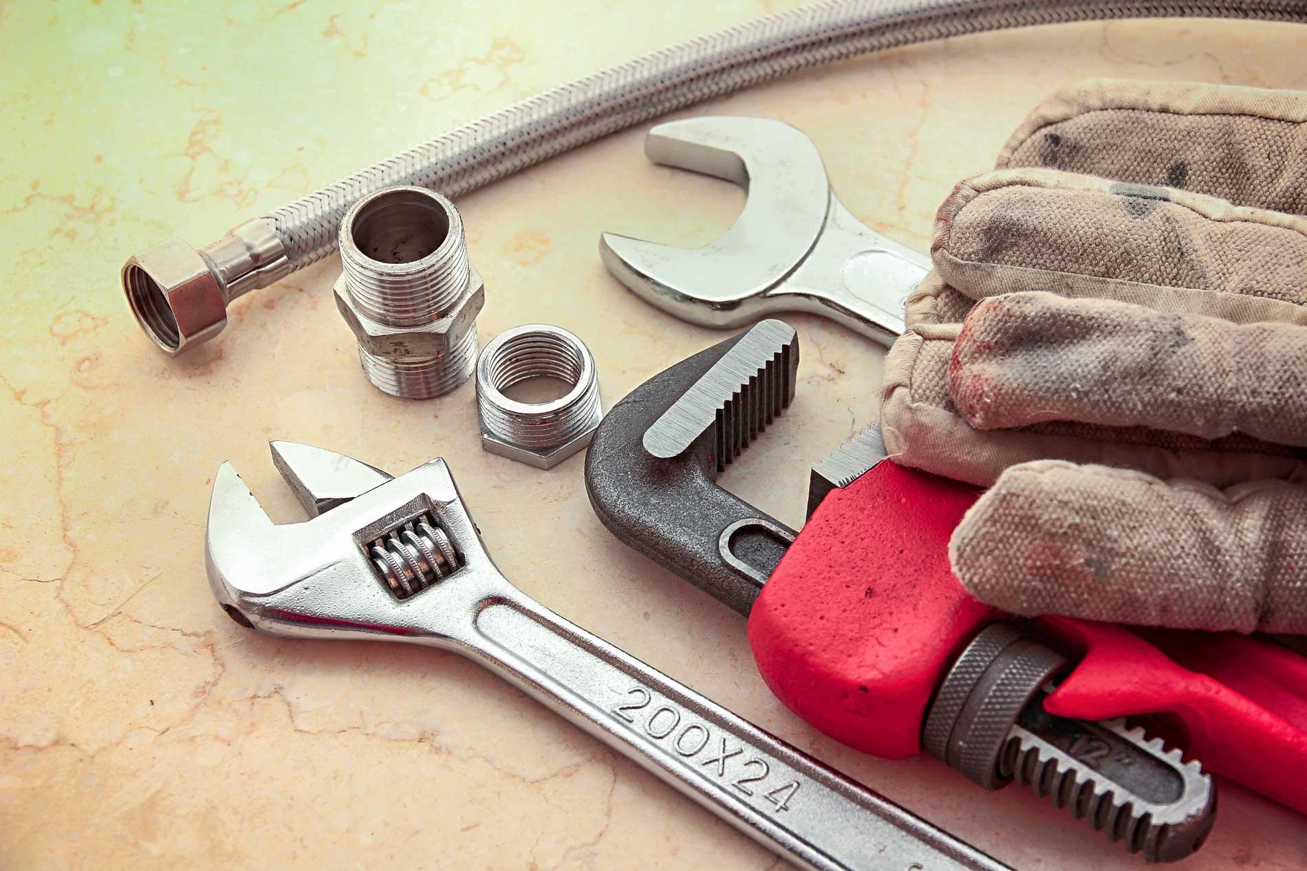 Strumenti professionali per lavori di idraulica