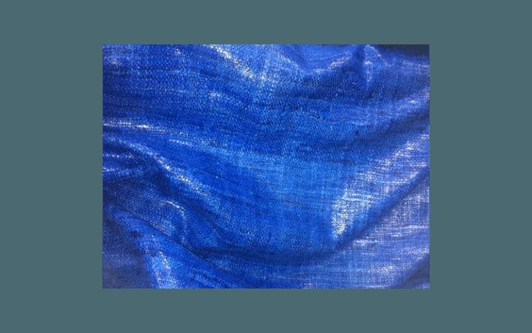 tessuto blu da donna