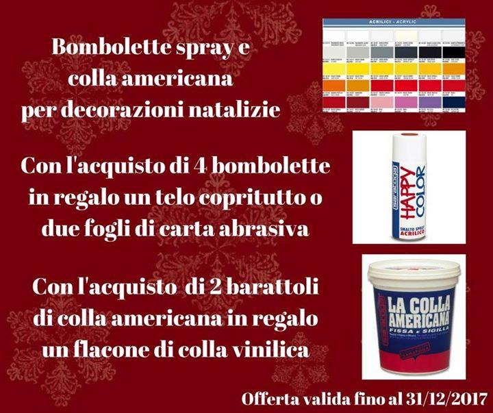 Offerta Natale 2017 Bombolette Spray e Colla Americana (fino al 31/12/2017)