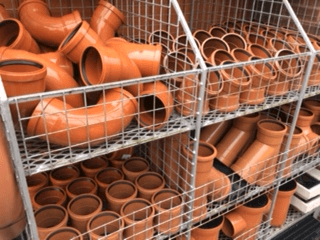 Underground Drainage Fittings in brown