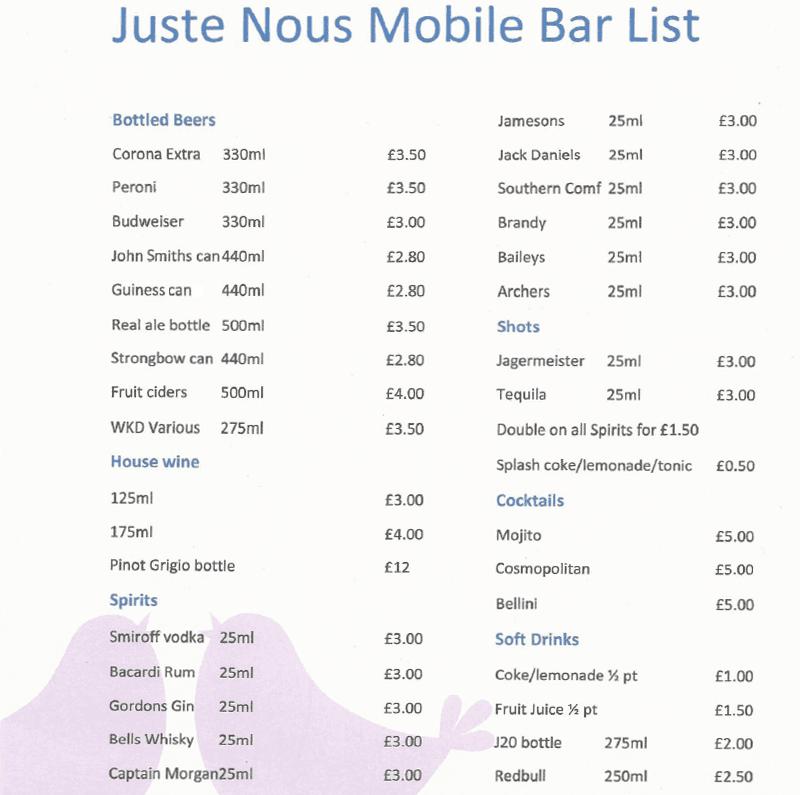 Mobile bar list