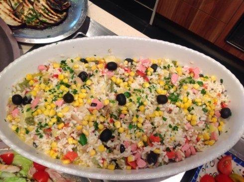 insalata di riso, calzoni, cucina pugliese