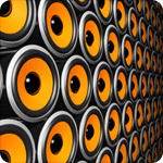 Image showing a wall of speakers from the sound design team at Simcol Communications in Newport, Wales
