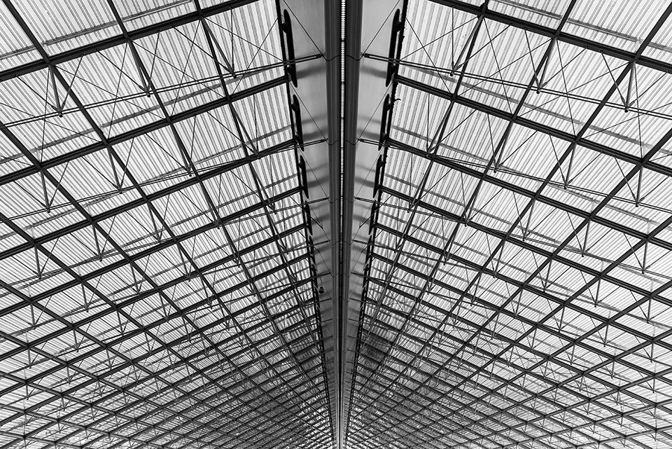 struttura metallica di un capannone