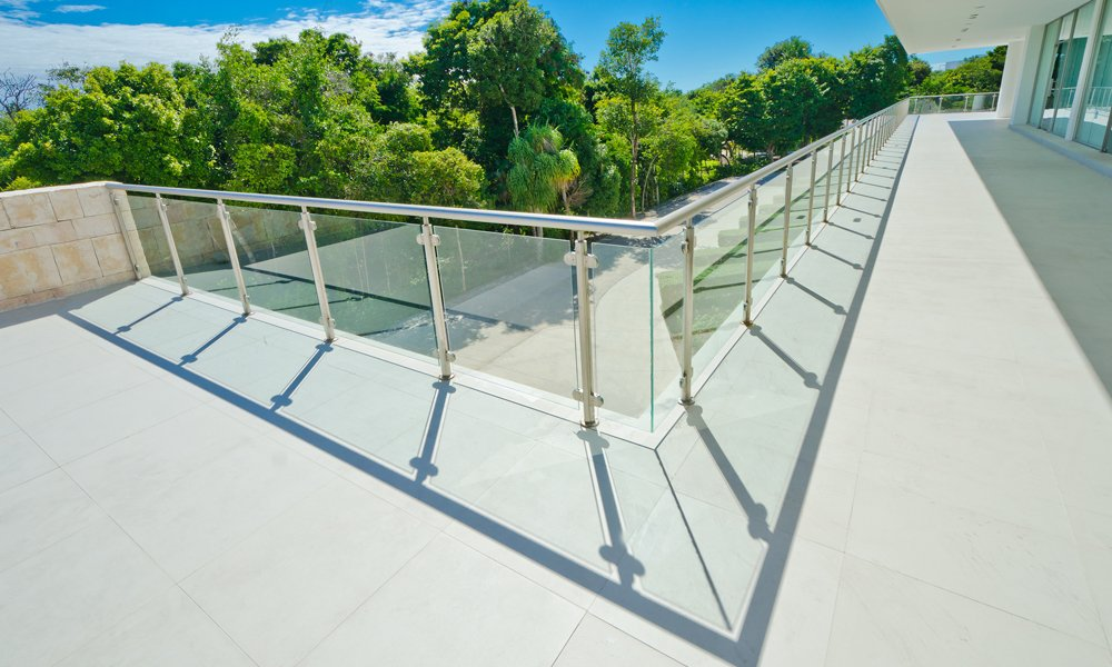 Parapetti in alluminio e vetro a Codevigo
