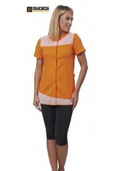 abbigliamento per medico donna arancione