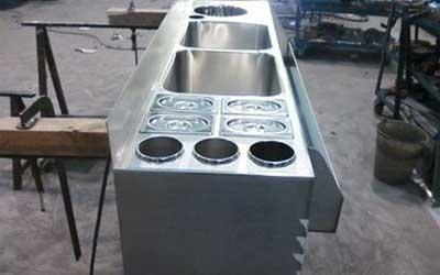 Piano acciaio inox