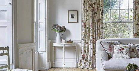 floral printed curtain