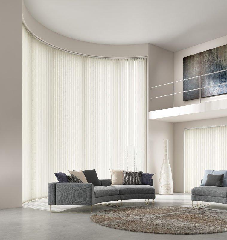 white coloured blinds