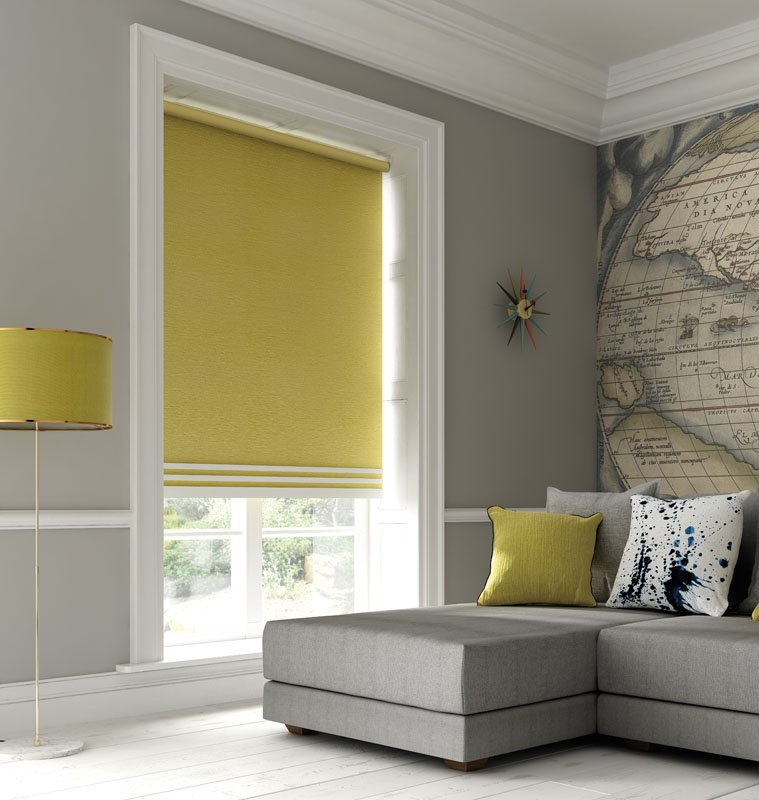 yellow coloured blinds