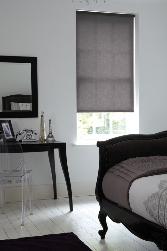 gray coloured blinds