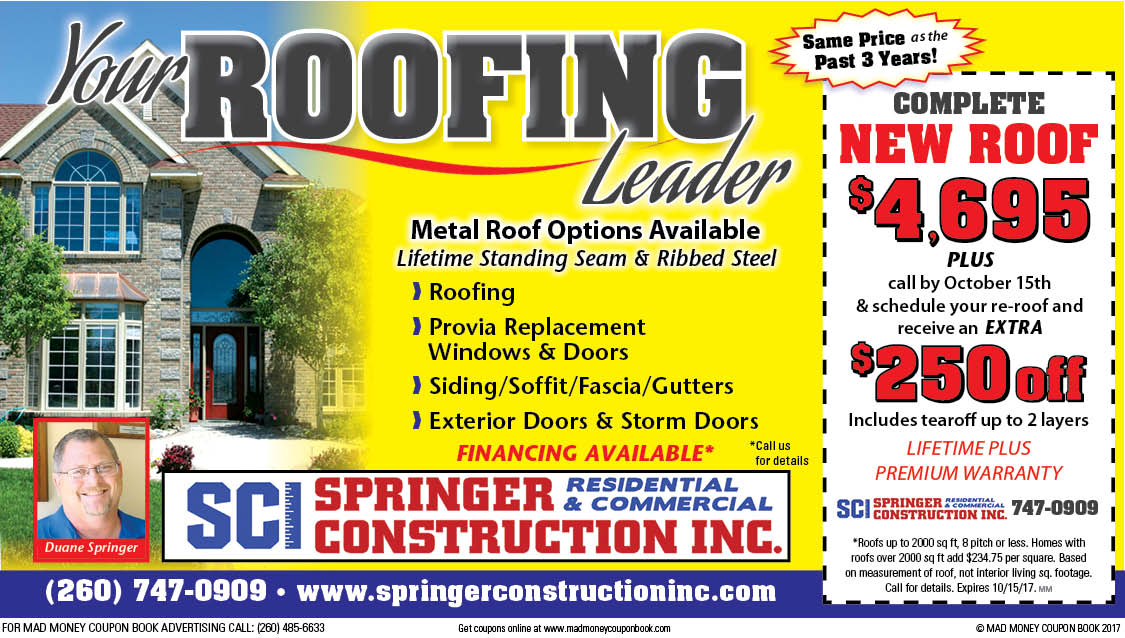 Springer roofing