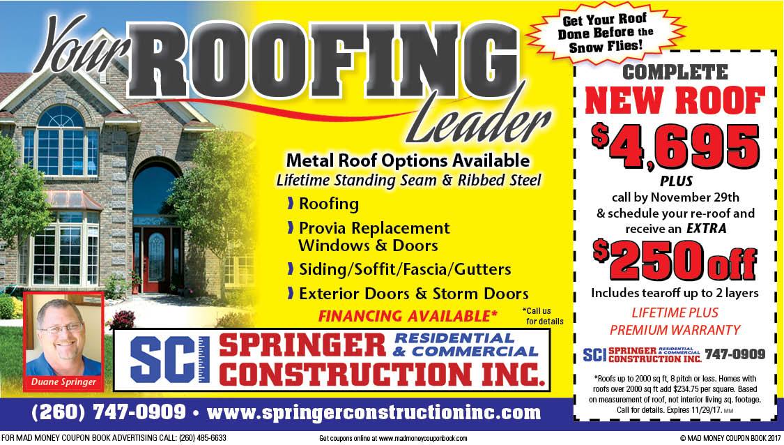 Springer roofing