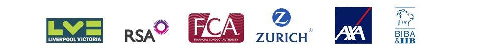 RSA AXA ZURICH logos