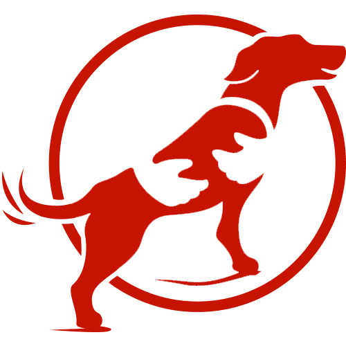 Hugged dog icon - testimonial icon
