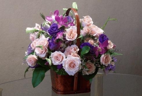 composizione floreale Iannoni fiori Genova