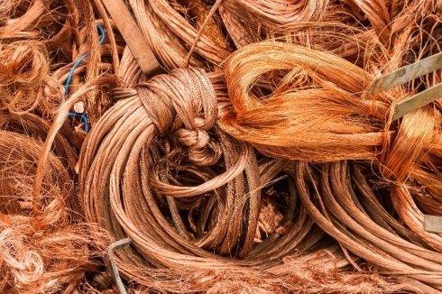 vendita materiale in rame, commercio materiale in rame, stoccaggio scarti in rame