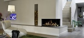 Contemporary fireplace installed in Surrey