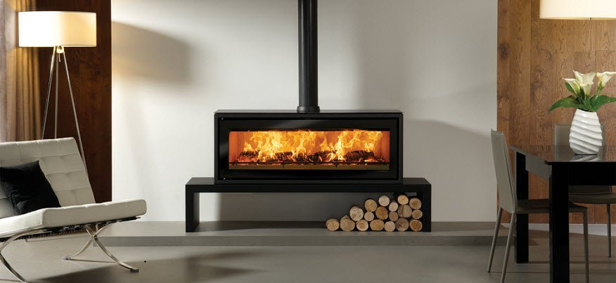 Contemporary multi-fuel and wood burning stove