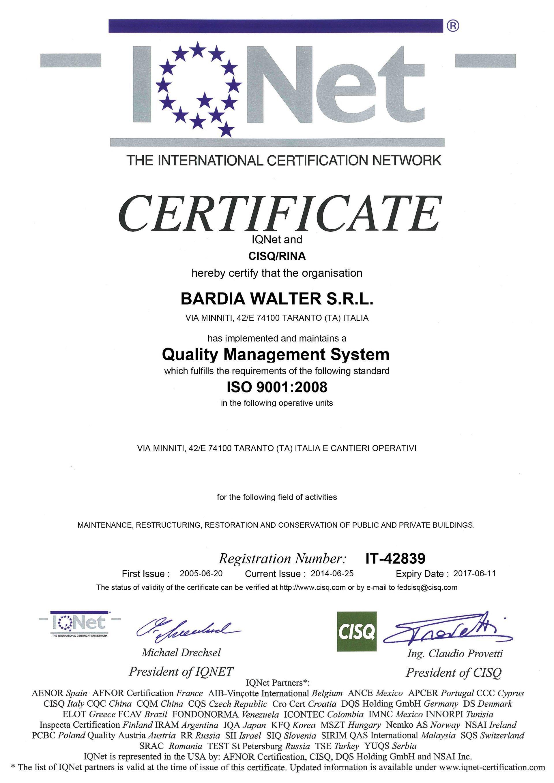 IQNET certificazione