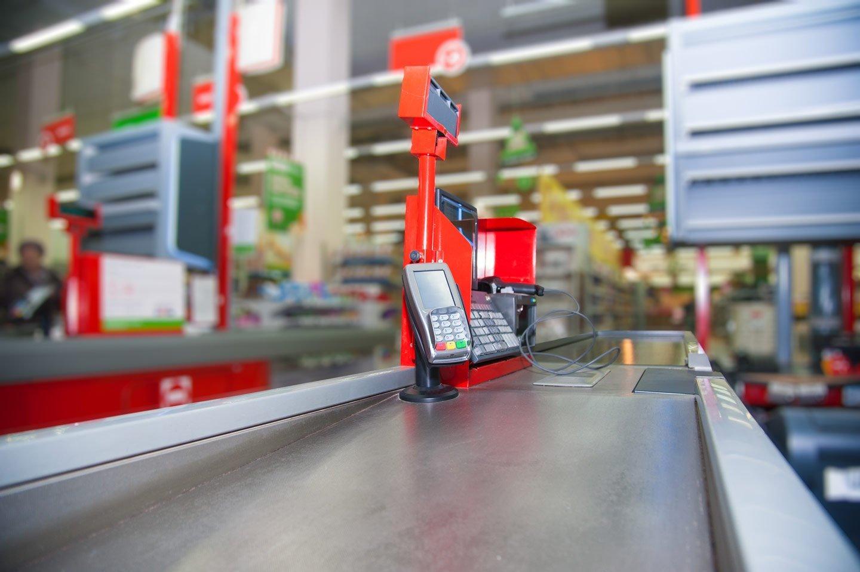 cassa di un supermercato