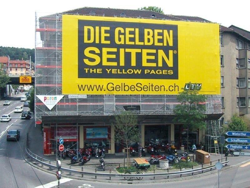 Maxi affissione gelben Seiten