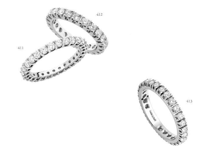 Anelli in argento con diamanti