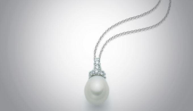 Collana con perla della collezione Tahiti