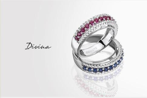 Anelli con diamanti della collezione Divina