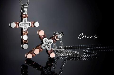 Collana con croce della collezione Cronos
