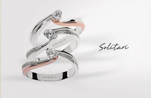 Anelli solitari in argento