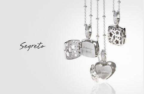 Collane in argento della collezione Segreto