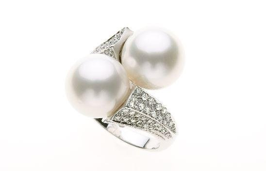 Anello femminile con perla