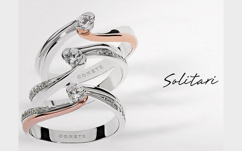 anello solitario collezione Comete
