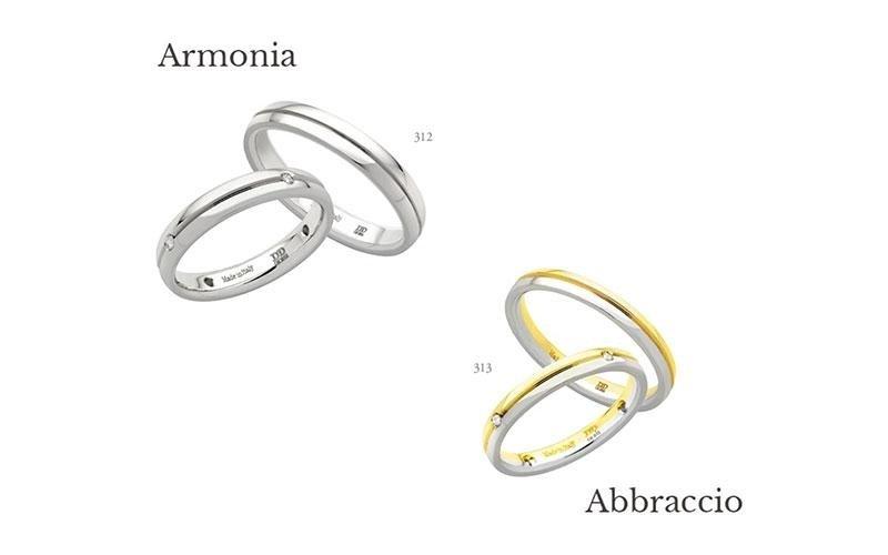 Fede nuziali della collezione Armonia